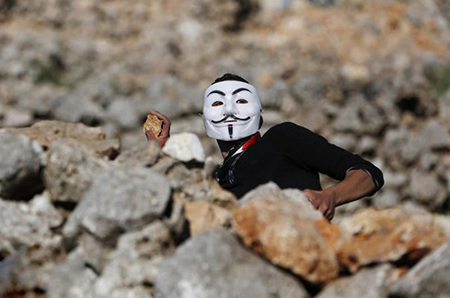 تصاویر دیدنی,تصاویر جالب,معترض فلسطینی
