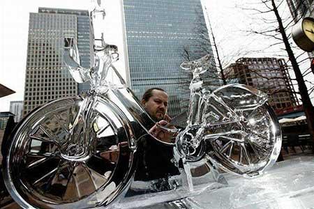 تصاویر دیدنی,تصاویر جالب,دوچرخه یخی
