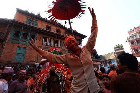 تصاویر دیدنی,تصاویر جالب, جشن های آغاز سال نو در نپال