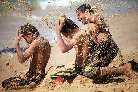 عکسهای جالب,تصاویر دیدنی,بازی با شن