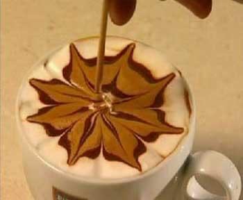 عکس تزیین قهوه , آموزش تزیین قهوه